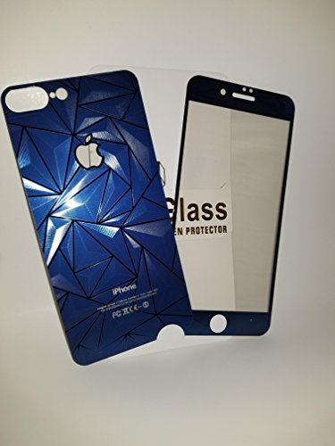 3D Diamond Tempered Glass Screen Protector iPhone 7 (Black) - 5