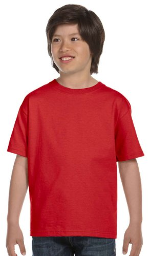 Gildan Youth DryBlend 5.6 oz., 50/50 T-Shirt - RED - M