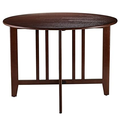 Amazoncom Mission Style Round Double Drop Leaf Dining Table