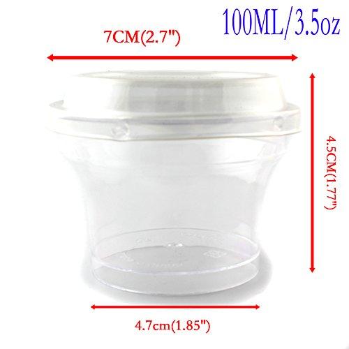 3.5oz 100ml Vodka Jelly Plastic Shot Glasses with Lid - 100
