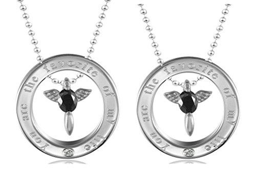 [Daesar His & His Necklace Set Couples Pendant Necklace Stainless Steel Love Angel Wings Matching] (Angel Wings Costume Malaysia)