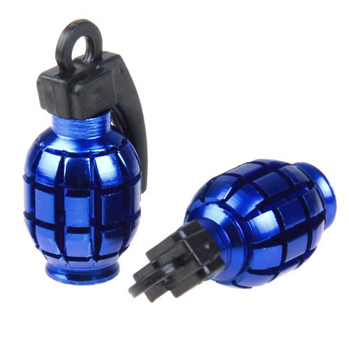 12pcs Metal Grenade-Shaped Car Bike Tyre Valve Dust Cap Cover