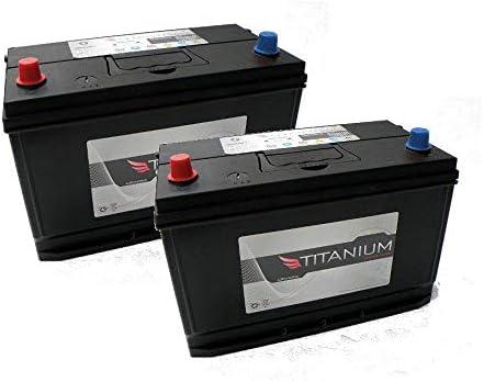 4 Year Warranty 324 x 172 x 224mm 2x Type 644 Heavy Duty Starter Battery 12V 91Ah