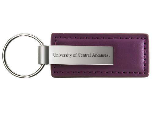 University of Central Arkansas - Leather and Metal Keychain - - Central Leather