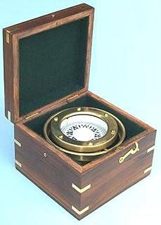 Nagina International R.M.S. Titanic, White Star Line Brass Nautical Gimbaled Boxed Compass