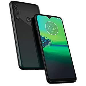 Motorola Moto G8 Play (32GB, 2GB RAM) 6.2″ HD+ Display, Dual SIM GSM Unlocked (AT&T/T-Mobile/Metro) – XT2015-2 – International Version (Obsidian Grey, 32GB + 64GB SD + Case Bundle)