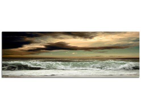 PANORAMA BILD in 150x50cm (Beach Front) TOP Bilder! Wandbild xxl günstig & modern ART PRINT Wandbilder Bilder EXKLUSIVES Fotowandbild auf Leinwand und Keilrahmen Bild Leinwandbild Fotodruck modern Zeitlos Stilvoll wie ein Gemälde Ausführung schöner Kun