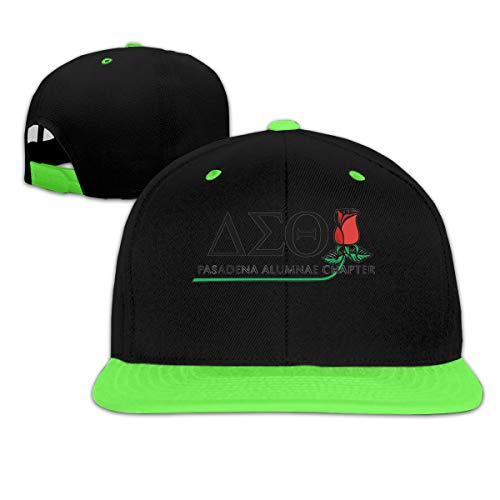 (HELLONICE Delta-Sigma-Theta Children's Boy Girls Classic Adjustable Hip Hop Baseball Hats Cap Green)