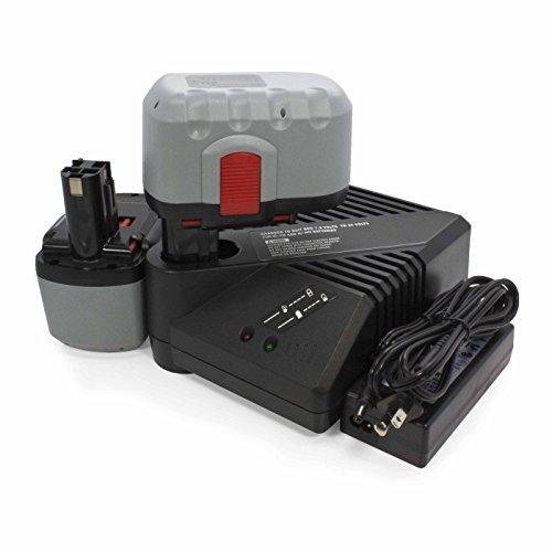 ExpertPower 24v 3000 mAh Ni-MH Battery for Bosch BAT030 BAT031 BAT240 BAT299 Battery Pack (2 Batteries + 1 Charger)