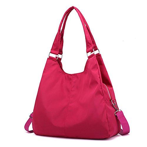 para Casual para Bolsa Lady de Bolsa Rosa de Morado Hombro bags de Nailon Oxford Tela Mujer de Gran de Bandolera roja Lona Capacidad ZqI8xw7qp