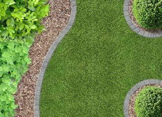 Jardín, césped y la corteza de abono (76983066), lona, 100 x 70 cm: Amazon.es: Hogar