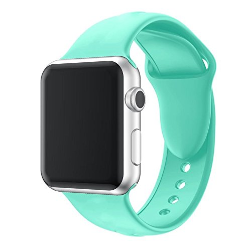 Eco Friendly Apple Green - Apple Watch Band, Premium Soft Silicone Sports Replacement Strap for Apple Watch Series 3, Series 2, Series 1 38mm