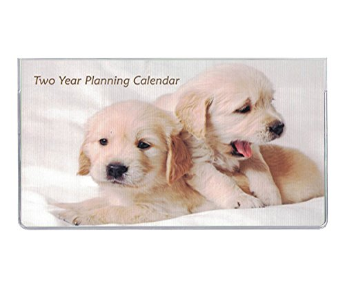 2018-2019 Lab Puppies 2 Year Pocket Calendar Planner with Notepad (Book Address Puppies)