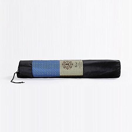 YKS 28 X9 Nylon Adjustable Strap Yoga Bag Portable Yoga Mat Bag Nylon  Carrier Mesh Center Black b8d3030201fa1