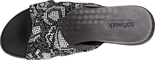 Softwalk Printed Python Sandal Womens Leahter Black Snake Tillman Dress rRr0Yq