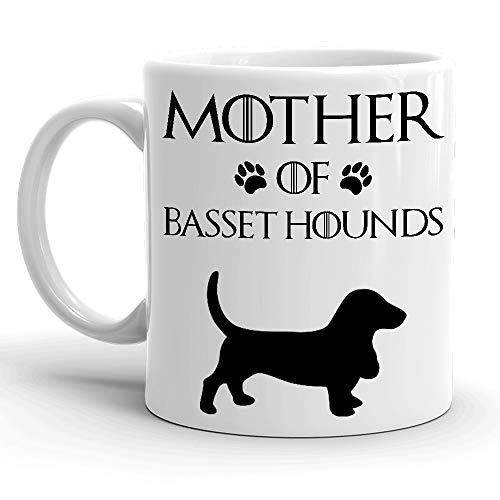 Funny Basset Hound Coffee Mug Mother Of Basset Hounds Mug Dog Mom Dog Lovers Mug For Women Awesome Dog Fetch Mug Best Dog Trainer Cup Ever Mother's Day Gifts Tea Cup 11oz 15oz White Ceramic Mug