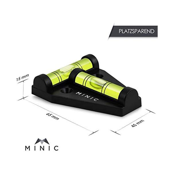 41jpicedXvL MINIC Magnetische-Kreuzwasserwaage    Kleine Wasserwaage   Strapazierfähig und Bruchsicher   Wohnmobil Zubehör   Starker…