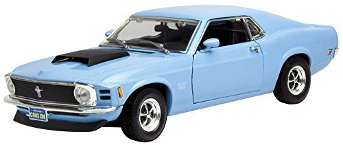 Motormax 73154 1970 Ford Mustang Boss 429 Light Blue 1/18 Diecast Model Car