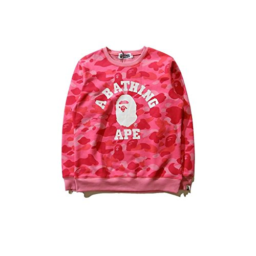(GoldBucket Unisex Fashion Hoodies (S, Bape Pink))
