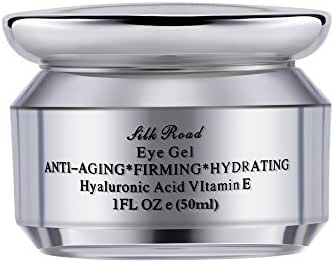 Anti Aging Eye Gel for Dark Circles Puffiness Wrinkles and Reduces under Eye Bags for Women and Man - The Most Effective Around Eye Cream for Day and Night (1 fl oz)