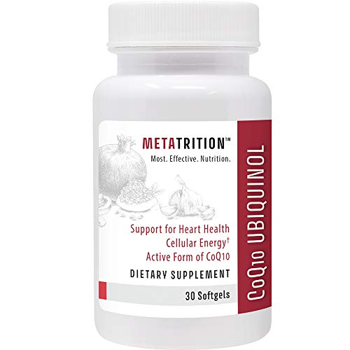 Metatrition Coq10 Ubiquinol Nutritional Supplements, 30 Count