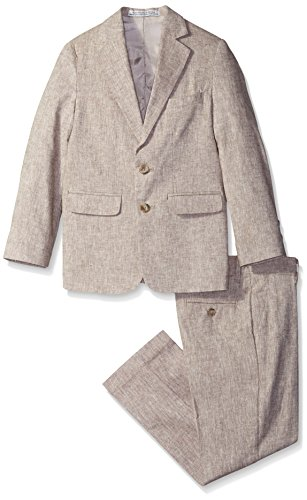Perry Ellis Big Boys' Linen Look Suit, Stone, 18