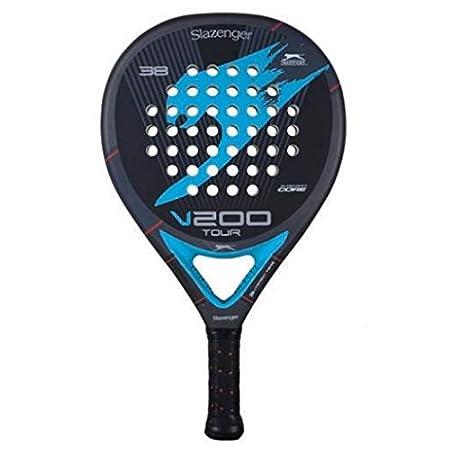 Slazenger V200 Tour - Pala de pádel, color gris/azul / negro, 38 mm: Amazon.es: Deportes y aire libre