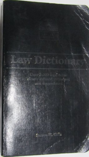 Law Dictionary Second (2nd) Edition