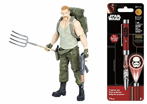 Action Figures The Walking Dead Comic Series 4 Abraham Ford & Free Star Wars Projector Pen, Colors may vary Toys