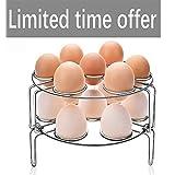 FILWIN Food Steamer Rack for Pressure Cooker, Egg Vegetable Steam Rack Stand Basket Set, Egg Cooker Eggassist, Stainless Steel