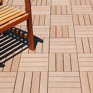 Eco Friendly Composite Bamboo Decking Tiles