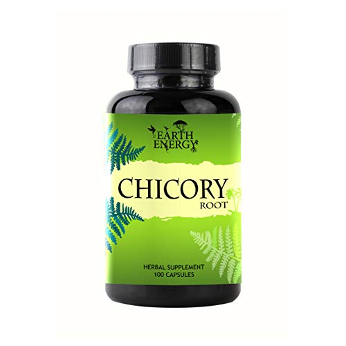 Chicory Herbal Supplement 500 mg, Made with Organic Chicory Root (100 Capsules) – Limited Time Launch Discount