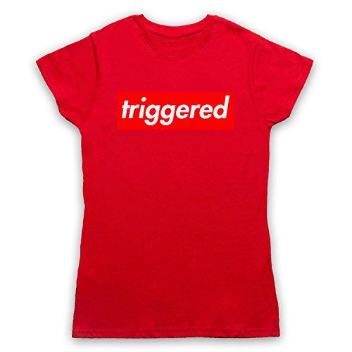 My Icon Art & Clothing Triggered Meme Damen T-Shirt Rot