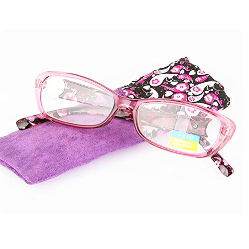 Reading Glasses Spring Hinges Floral Patterned Readers Classy Design Stylish Readers Travel Women Men Incl. Case - Incl Hinges