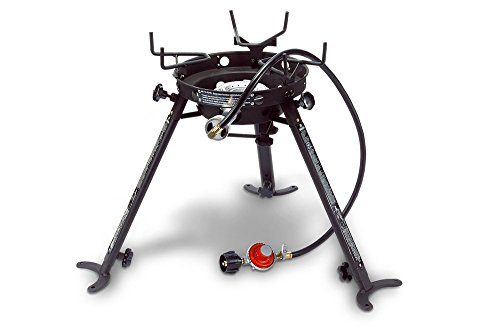 Eastman Outdoors Portable Kahuna Burner with XL Pot and Wok Brackets with Adjustable and Removable Legs