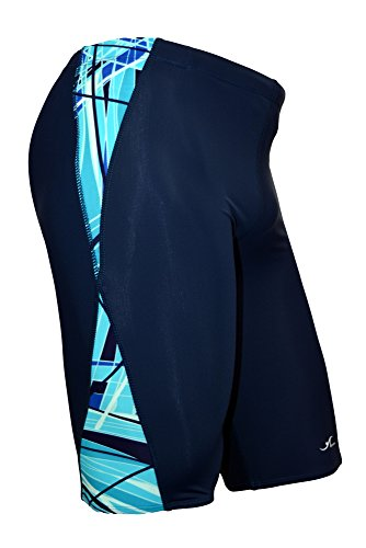 Adoretex Men's Spice Jammer Swimsuit (MJ011) - Navy/Teal - 34