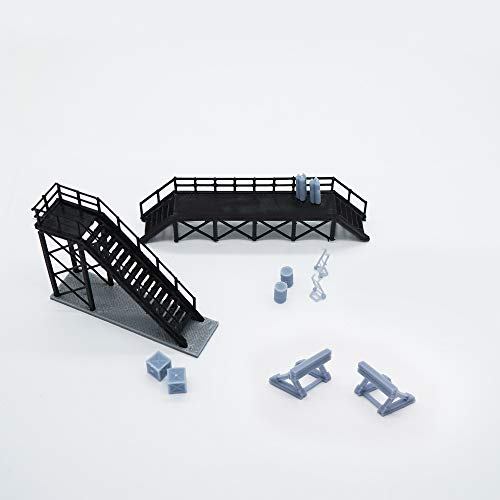 outland models Train Locomotive Maintenance Platform & Accessories HO OO Scale ()