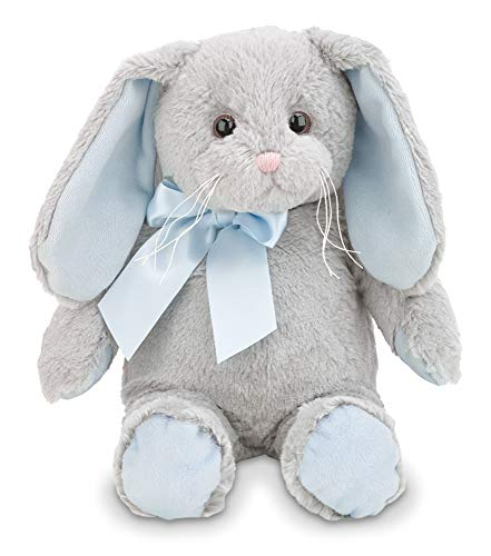 Bearington Lil Hopsy Blue and Gray Plush Stuffed Animal Bunny Rabbit, 12 inches (Bunny Rabbit Blue Plush)