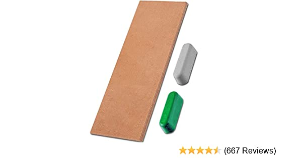 6pc Leather Craft Double Sided Leather Strop Sharpening Rouge Sharpener Tool Set