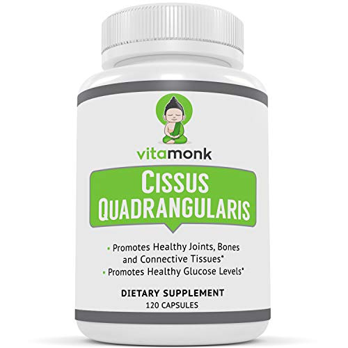 VitaMonkTM Cissus Quadrangularis 5% Ketosterone Extract - 120 Capsules - Targeted 5.35% Extract of 3-Ketosterones Reduce Joint Pain, Support Bone Health and Help Fat Loss. Compare to SuperCissus RX