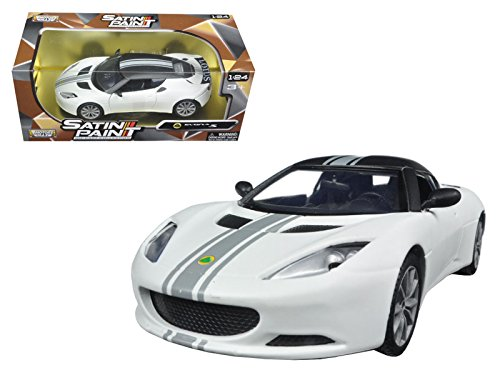 Lotus Model Car - Lotus Evora S Matt White 1/24 by Motormax 79505