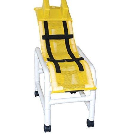 MJM International 191-M-A-B Medium Articulating Bath Chair with Base, 130 oz Capacity, 42'' Height x 38.5'' Length x 18.75'' Width, Royal Blue/Forest Green/Mauve