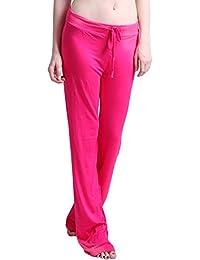 Womens Yoga Pants Drawstring Pajama Bottoms Stretchy Lounge Workout Leggings