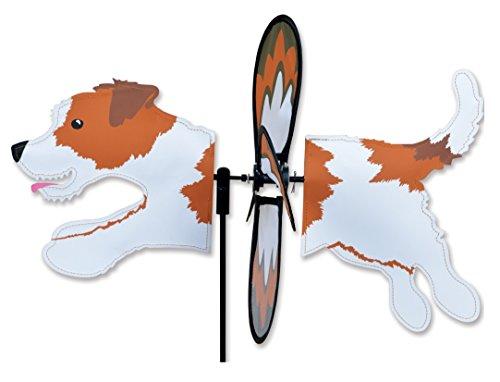 Premier Kites Petite Wind Spinner for Patio, Lawn, Garden   100% Rain & UV Resistant Polyester - Aerodynamic, Sturdy Long Lasting Dog Wind Spinner (Jack Russell) ()