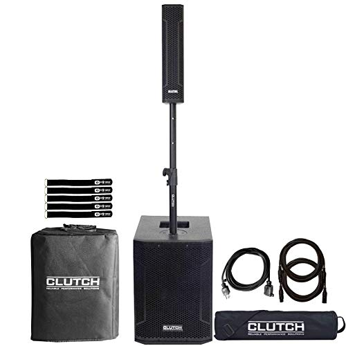 Clutch Powered Active Bluetooth Column Array PA DJ Speaker System w Cases