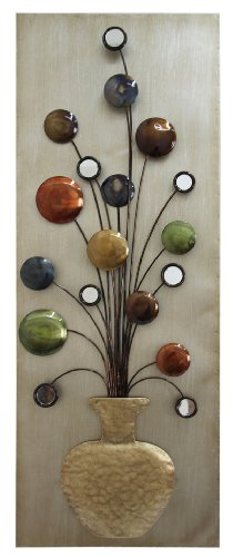 Home Source Industries 400-25423 Metal Wall Art, 12 by 32.1 by (400 Home Decor)
