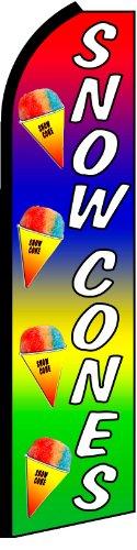 NEOPlex Snow Cones Swooper Flag