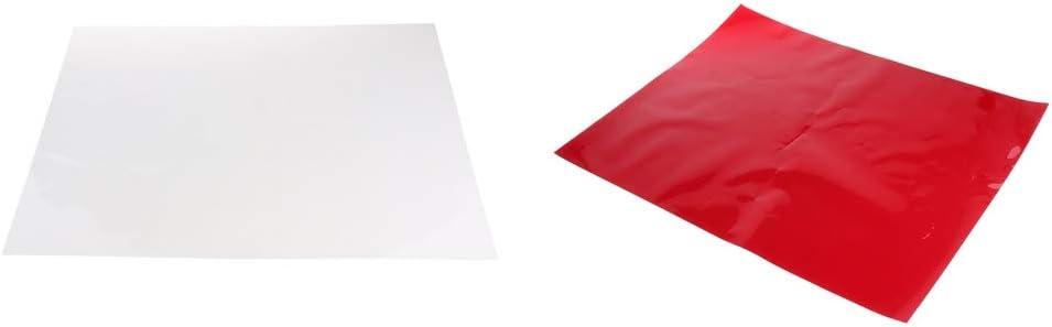 Color Gel Filter Film Gel Sheet for Video Light Studio Flash Strobe Red 15.7 x 9.6 in// 40 x 50 cm Color Correction Gels White