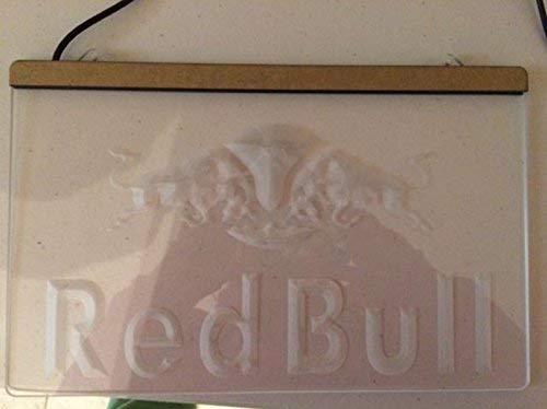 Red Bull LED El Acrílico Signo Iluminación El Bar Los Personajes De La Publicidad De Neón De Colour Azul De Escudo