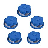 Staron  Flower-Shaped Washing Machine Hair Remover Reusable Floating Filter Net Bag Filter Decontamination Hair Portable Remover Laundry Ball 5/10PC (A)